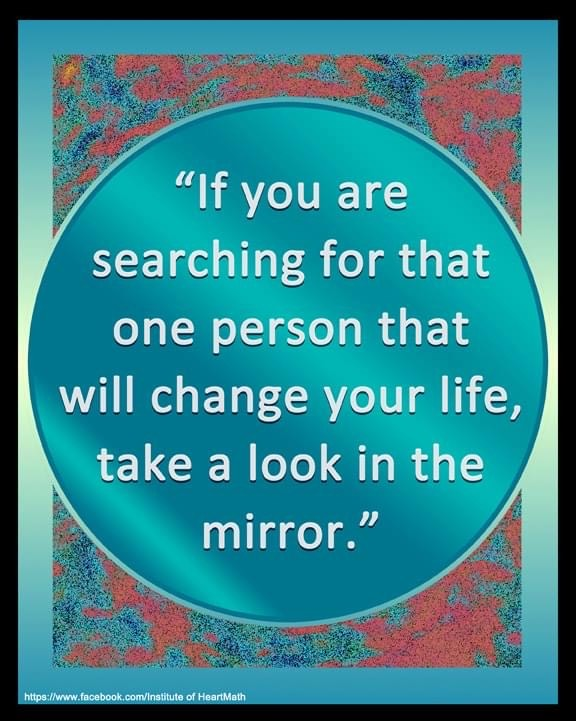 look in mirror